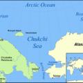 Carta del Mare-dei-Chukchi dove Shell ha sospeso le esplorazioni petrolifere