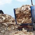 Rifiuti in legno da raccolta differenziata