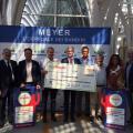 Cerimonia donazione fondi dai consorzi di riciclo all'ospedale Meyer di Firenze